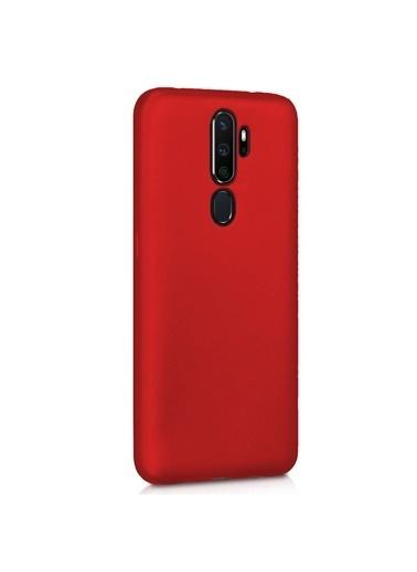Microsonic Matte Silicone Oppo A5 2020 Kılıf Kırmızı Kırmızı